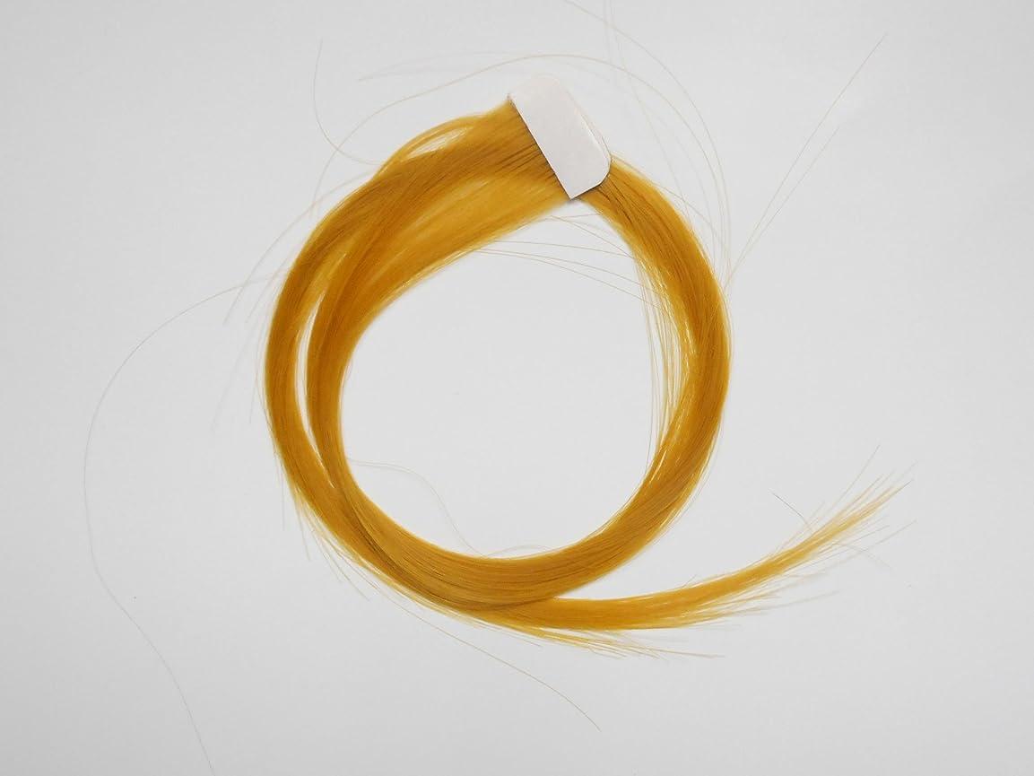 削除する炭水化物控える簡単エクステ テープエクステンション シールエクステンション 2枚入 10色カラー (イエロー)