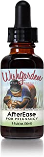 WishGarden Herbs AfterEase Tincture - Postpartum Contraction Drops for After Birth Relief with Cramp Bark and Organic Blac...