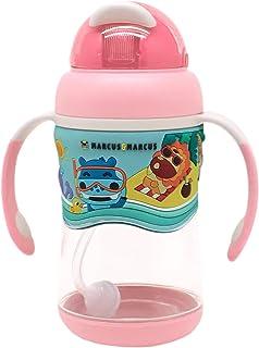 Marcus & Marcus 2-stage Tritan Straw Bottle - Girl, Pink