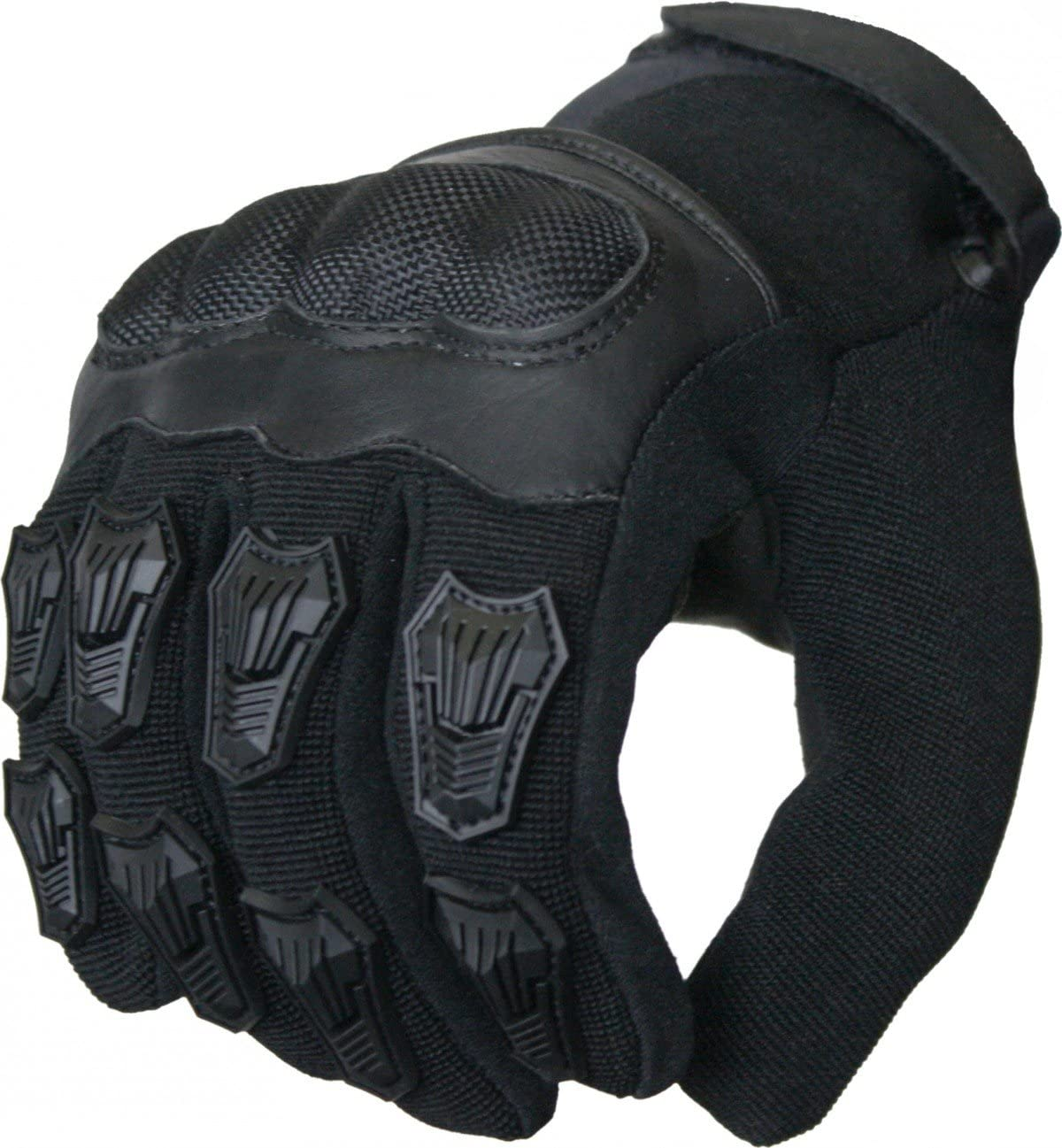 Size:8=M German Wear Motorradhandschuhe Sommer Motorrad Biker Handschuhe Schwarz