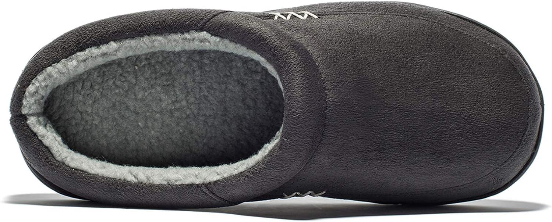 NewDenBer Chausson Mixte Adulte Chaussons Homme Pantoufles en Mousse /à M/émoire Antid/érapant Chaussons /à la Maison