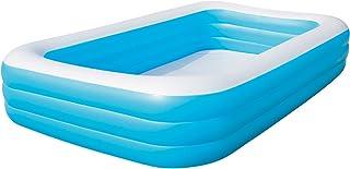 Bestway 54009 Piscina Hinchable Infantil Rectangular, Azul 305cm x 183cm x 56cm