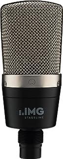 IMG STAGELINE ECMS-60 - Micrófono de condensador (membrana grande, vocal, instrumento para uso profesional, incluye soport...