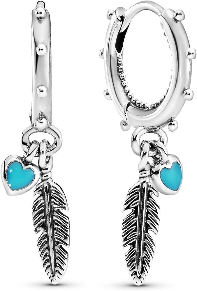 Pandora orecchini di stoffa donna argento 297205EN168