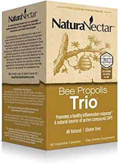 NaturaNectar Natural Bee Proplis Trio - Premium Brown, Red & Green Brazilian Propolis - Immune Support, Hepatic / Liver & ...