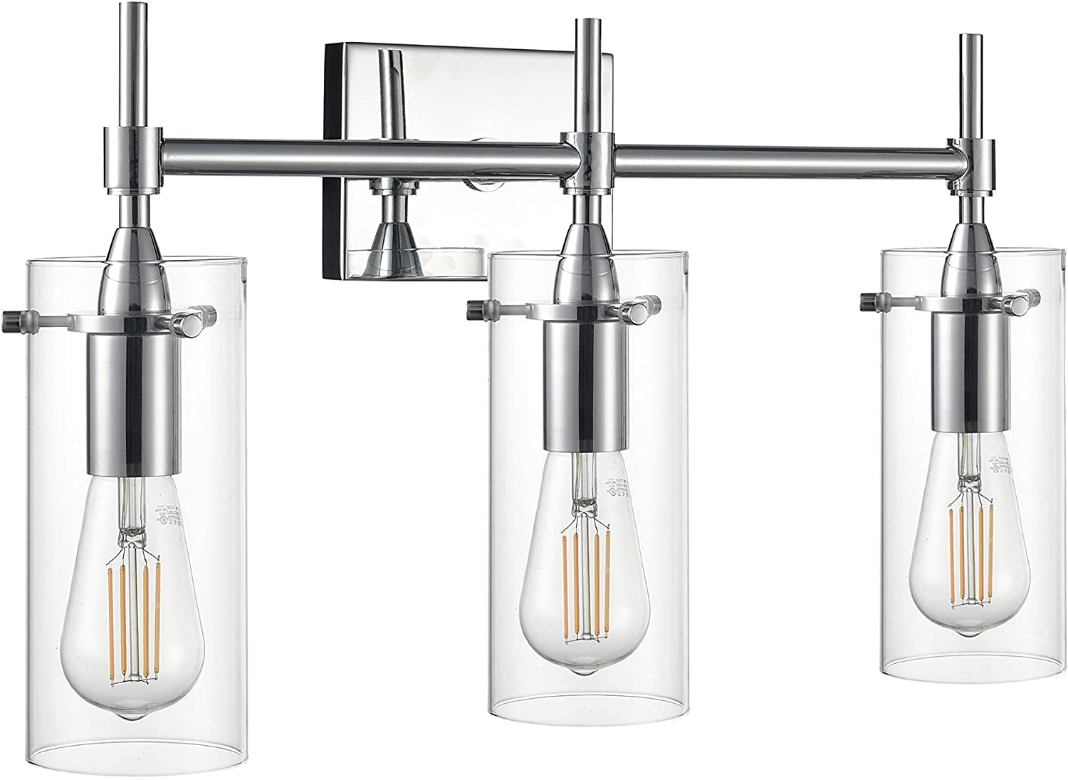 Effimero Chrome Today's only Bathroom Vanity 3 Light Modern Fixture Mi Over All stores are sold -