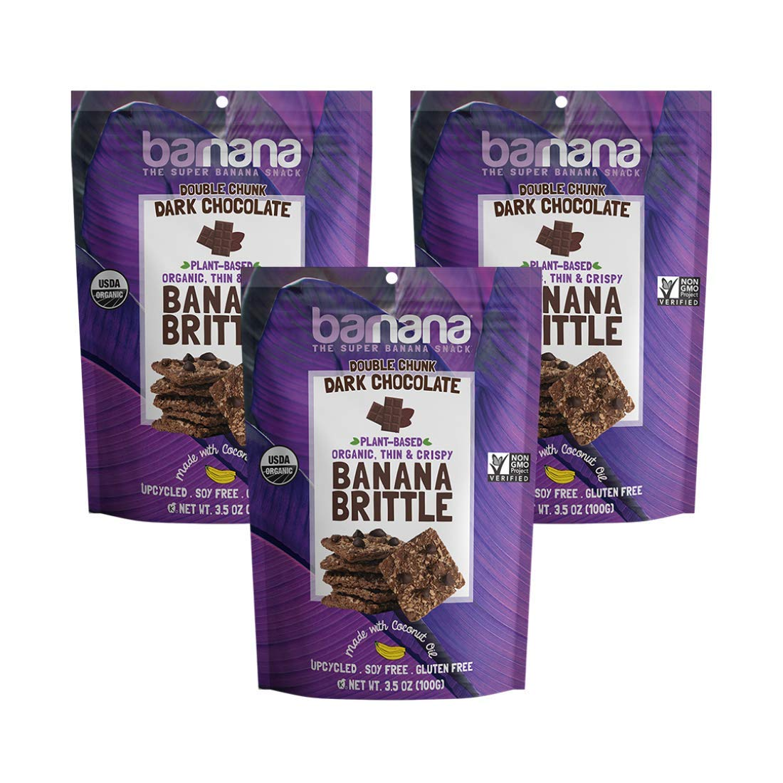 Barnana Organic Crunchy Spring new work one Ranking TOP8 after another Banana Cookie Chunk Brittle - Double Dar