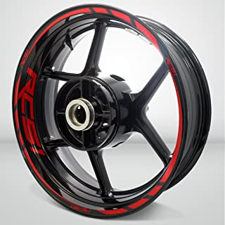 Gloss Red Motorcycle Rim Wheel Decal Accessory Sticker For Honda RC51