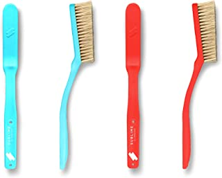 Sublime Slimline Climbing Brush 2-Pack (Teal/Red) - Premium Boar's Hair Rock Climbing and Bouldering Brush - 100% Recyclable