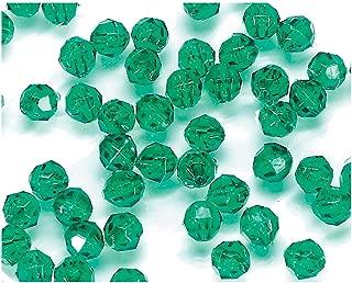 Darice Bulk Buy DIY Faceted Plastic Beads Transparent Christmas Green 8mm 480 Pieces (1-Pack) 06101-5-T12