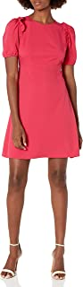 Lark & Ro Women's Florence Puff Half Sleeve Empire Waist Fit and Flare Dress