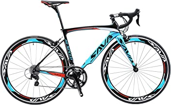 SAVADECK Carbon Road Bike, Warwinds4.0 700C Carbon Fiber Racing Bicycle with TIAGRA 20 Speed Derailleur System and Double V Brake