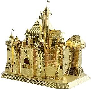 MU 3D Metal Puzzle Sleeping Beauty Castle Fantasy Castle Building Model FC-G01 DIY 3D Metal Puzzle Kits Laser Cut Jigsaw Toys