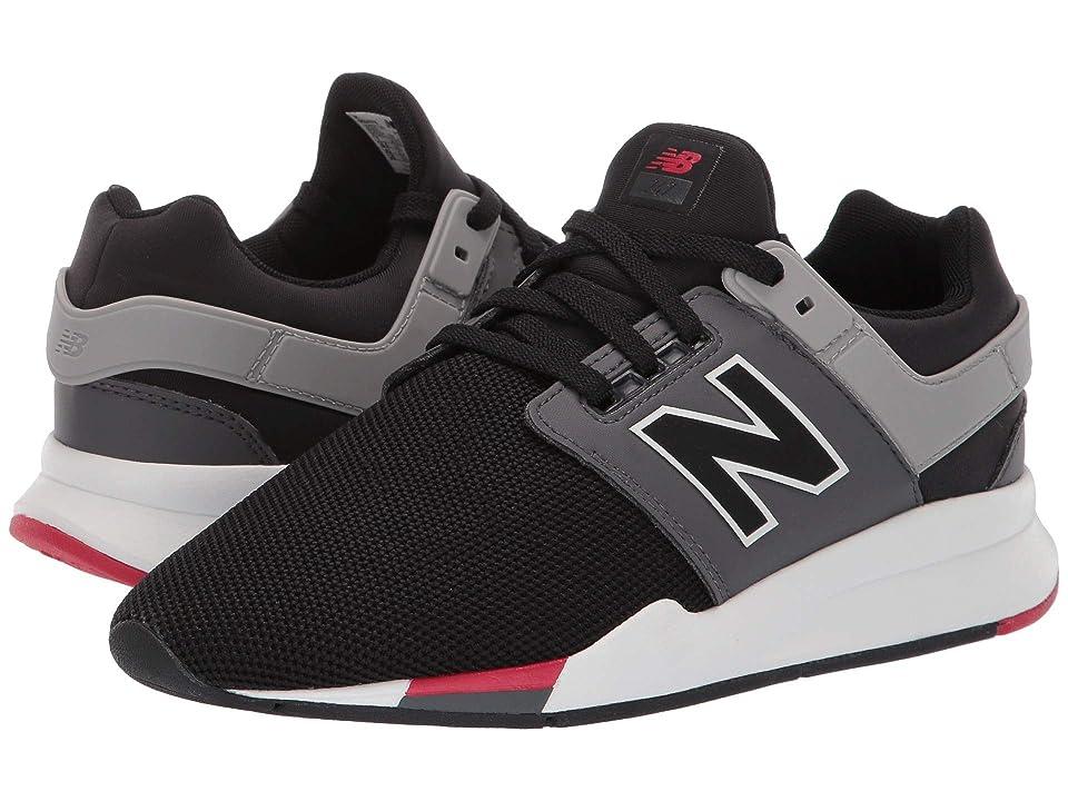 New Balance Kids GS247v2 (Big Kid) (Black/Mineral Rose) Boys Shoes