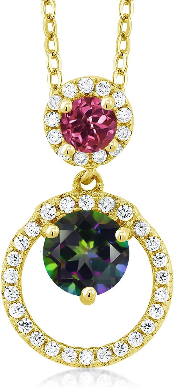 Recommendation Gem Stone King 1.85 Ct Green Pink Topaz Tourmaline Baltimore Mall 18K Mystic Ye