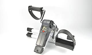 Jocca 6207 Pedaleador Plegable con Display, Unisex, Blanco/Negro, Talla Única
