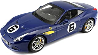 Bburago Ferrari California T Blue Sunoco #6 70th Anniversary 1/18 Diecast Model Car by 76104