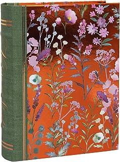 パンチスタジオ 収納ボックス BOOK型 (フラワー×ブロンズ) ライラック&セージ (Sサイズ) 43809