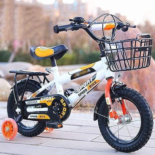 C  Mini Bikes Kids Bike Bike Kinderfürr r fürr r 3-12 Jahre Alte Adjustable Collapsible In Vielen Größe Optional Orange-Weiß(24 Zoll)