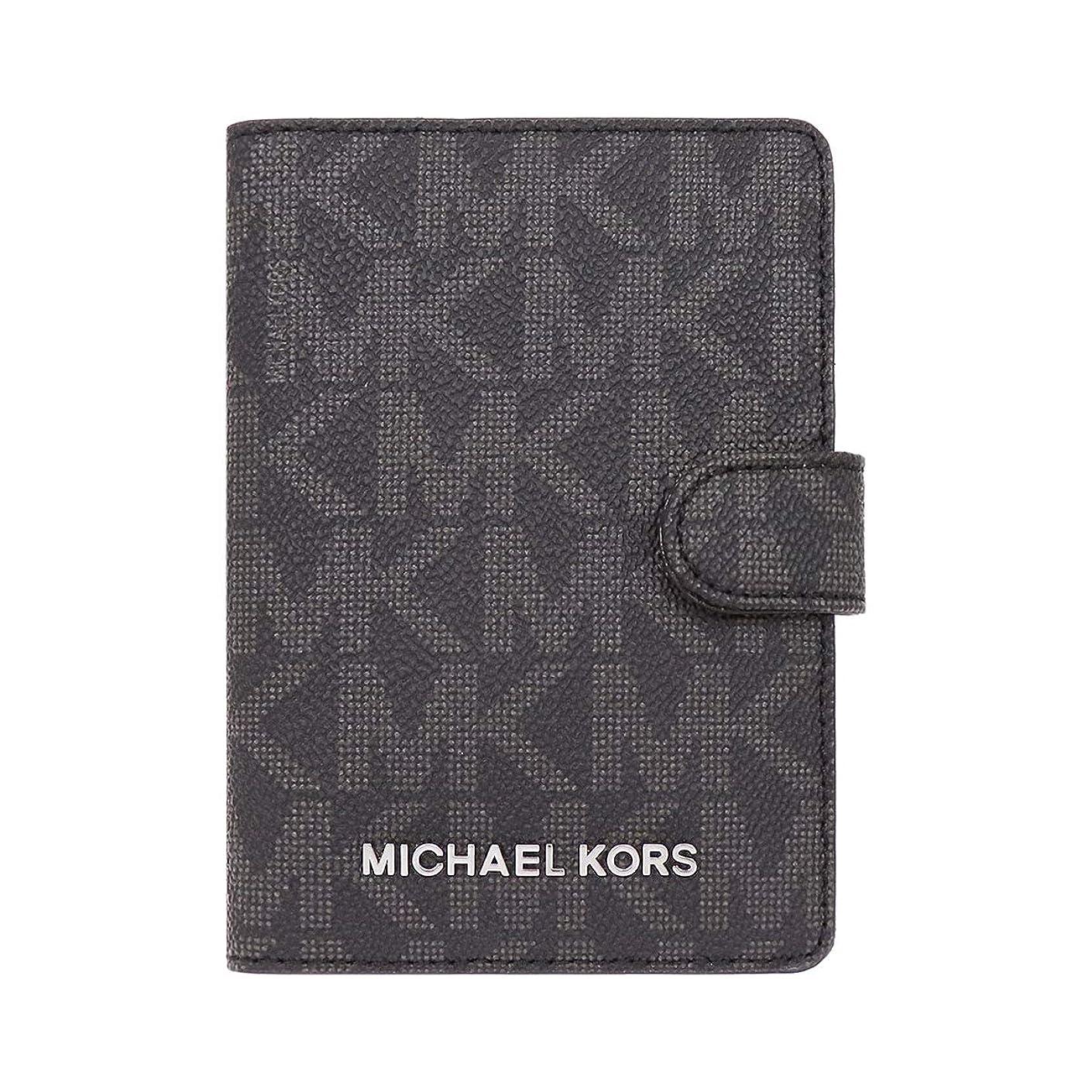 空ボクシング賄賂[マイケルコース] MICHAEL KORS 小物 (カードケース) 35H7STVT2B ブラック BLACK シグネチャー パスポート カードケース レディース [アウトレット品] [ブランド] [並行輸入品]