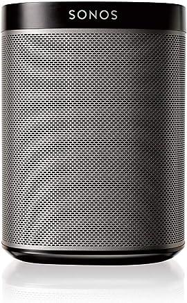 Sonos Play:1 Smart Speaker, schwarz – Kompakter & kraftvoller WLAN Lautsprecher für unbegrenztes Musikstreaming – Feuchtigkeitsbeständiger Multiroom Lautsprecher