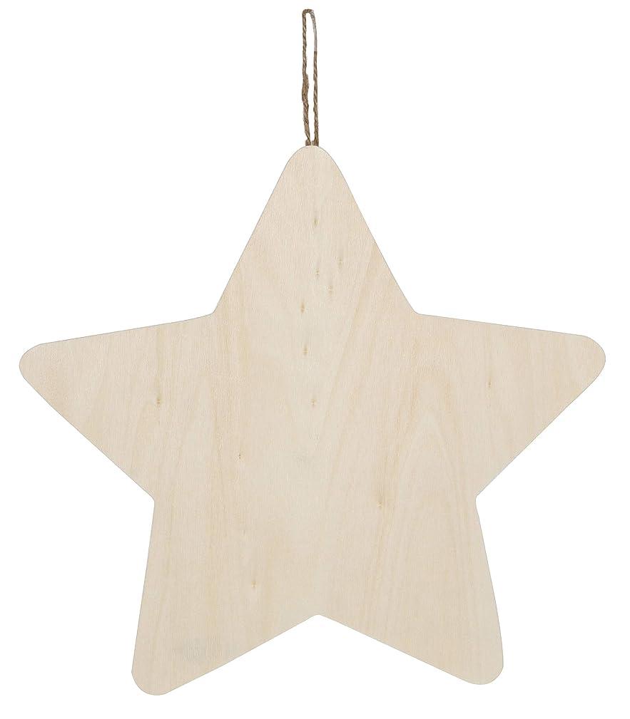 CRAFTWOOD 9190-9306 Wood Plaque W.Hanger Star, Multicolor