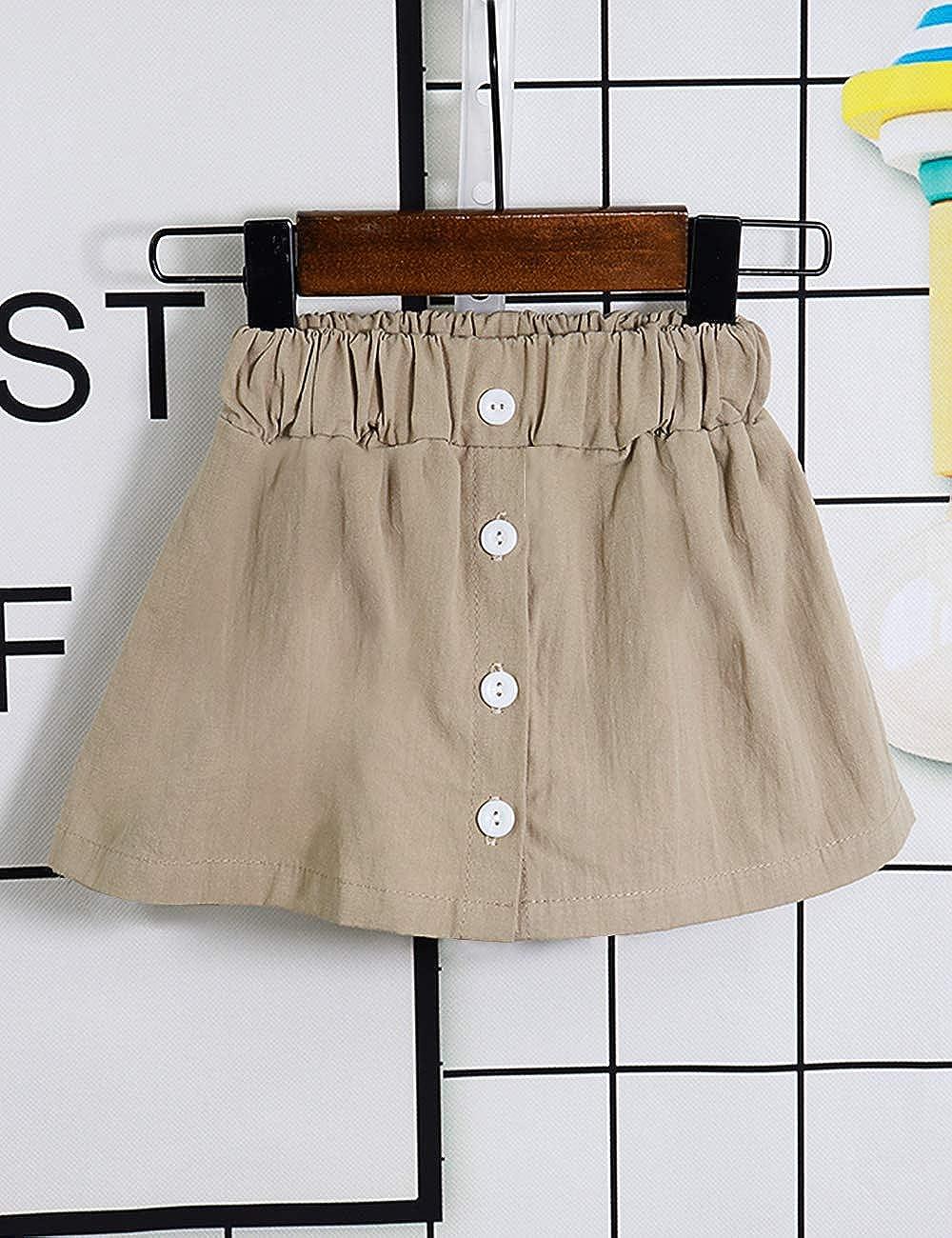 Toddler Baby Girl Outfits 2Pcs Ruffle Print T-Shirt Tops and Shorts Pants Clothes Sets 4T Brown