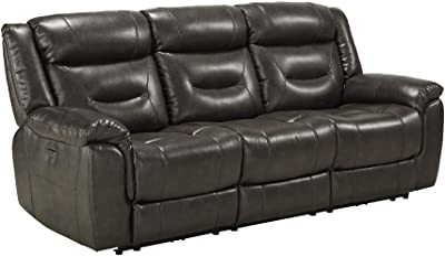 Amazon.com: Delange Reclining Power Sofa with Adjustable ...