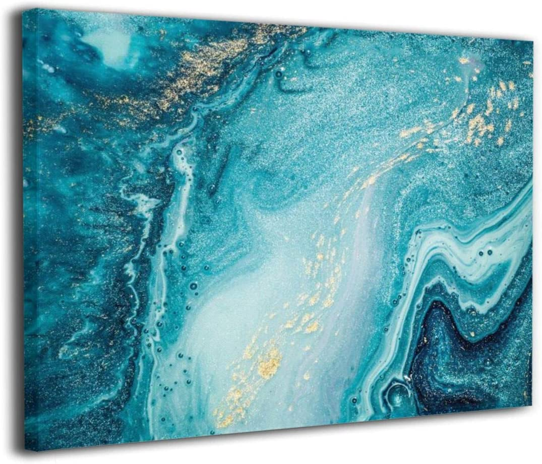 Amazon Com Okoart Canvas Wall Art Prints Agate Abstract Ocean Swirls Marble Photo Paintings Contemporary Decorative Artwork For Living Room Wall Decor And Home Decor Framed Ready To Hang 16x20inch Posters Prints