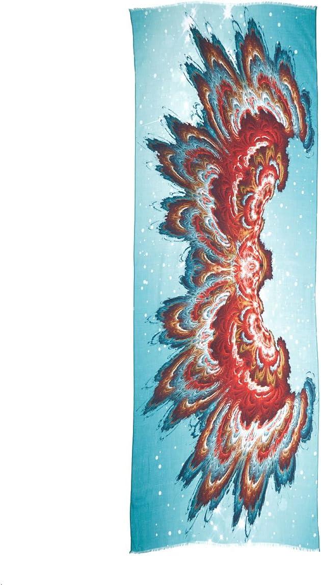 Bohemian Fractal Now free shipping Max 81% OFF Art Wing Span Digitally Prin Scarf Sarong Shawl