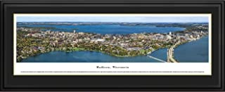 Madison, Wisconsin - Blakeway Panoramas Print with Deluxe Frame and Double Mat