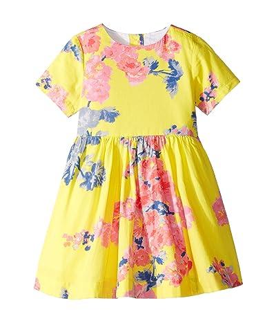 Joules Kids Martha Dress (Toddler/Little Kids) (Yellow Floral) Girl