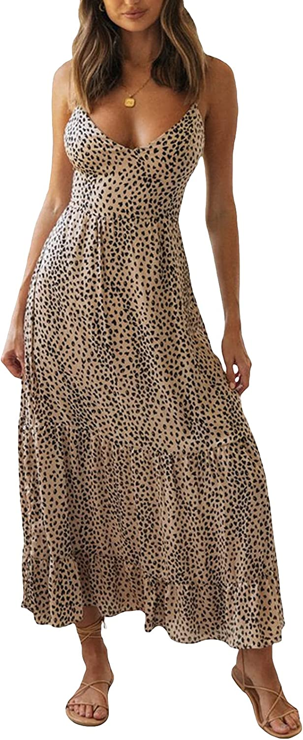 Women Print Dress Criss NEW before selling Cross Backless Swing Midi Back Limited price Tie