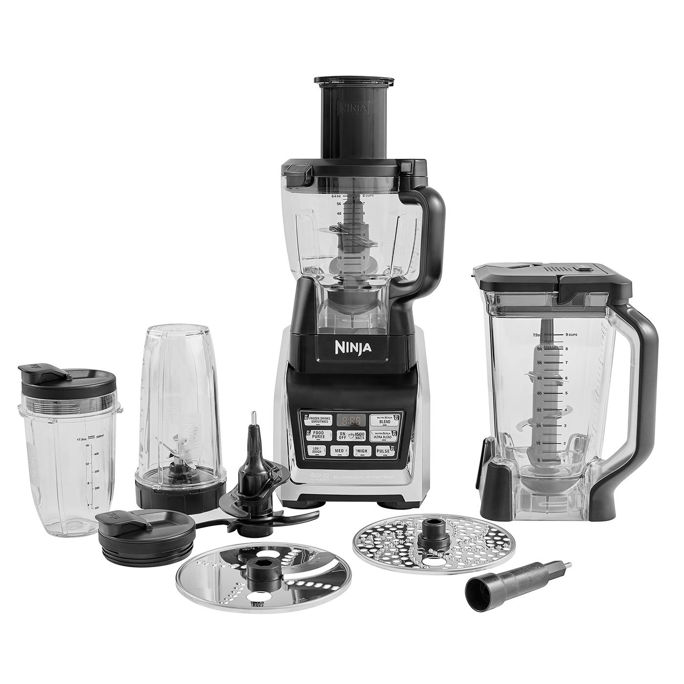 Ninja Robot de cocina 3 en 1 [BL682EU2] 1500 W, Auto-iQ, 1500 W Negro: Amazon.es: Hogar