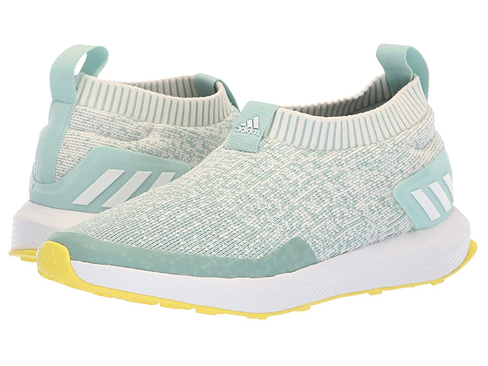 adidas Kids RapidaRun Laceless Knit (Big Kid) (Ash Green/Chalk White/Black) Girl