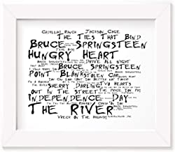 Bruce Springsteen Poster Print - The River - Letra firmada regalo arte cartel