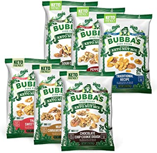 Bubba's Keto Nut Mix Variety Pack, 1.2oz (Pack of 6) | 3g Net Carbs | Gluten Free, High Protein Snack (Full Variety)