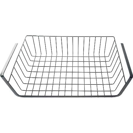 収納ラック下のデスクワードローブパーティションハンギングバスケットキッチンキャビネット収納ラック(黒のハンギングバスケット) (小さい)