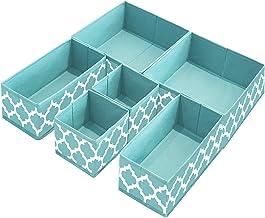 homyfort Clothes Drawer Organizer Dividers,Foldable Closet Dresser Storage Box Bins Cubes Baskets for Underwear Bras Socks...