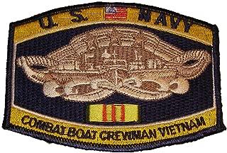 US Navy Combat Boat Crewman VIETNAM VETERAN Patch - Veteran Owned Business