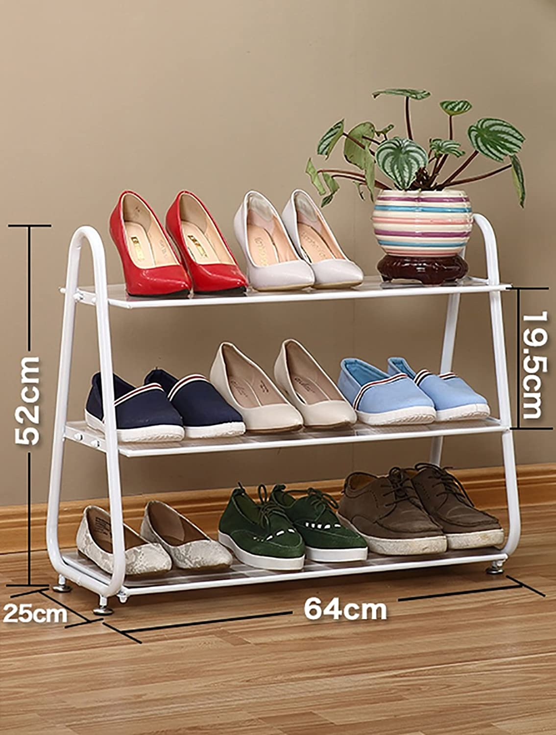 shoes Bench Organizing Rack shoes Rack, Home Storage Slippers Rack, Simple Modern Economic shoes, Multi-Functional Iron Shelf (color   White)