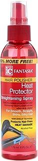 Fantasia Hair Polisher Heat Protector Straightening Spray, 6 oz (Pack of 4)