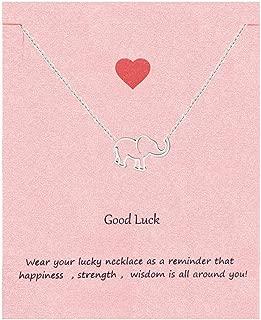 Your Always Charm Elephant Necklace,Good Luck Elephant Pendant Necklace & Bracelets for Women