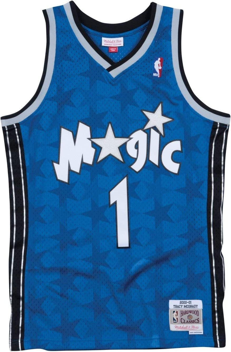 Amazon Com Mitchell Ness Men S Orlando Magic Tracy Mcgrady Swingman Jersey Clothing