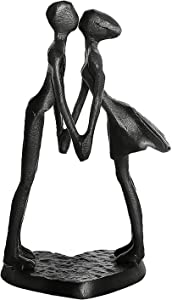 Art Metal Sculpture Decor - Iron Bust Statue Gifts for Home Decoration Couple Steel Figurine 1 6 25th 40th 50th Year Wedding Anniversary for Her Him for Birthday Christmas Valentine