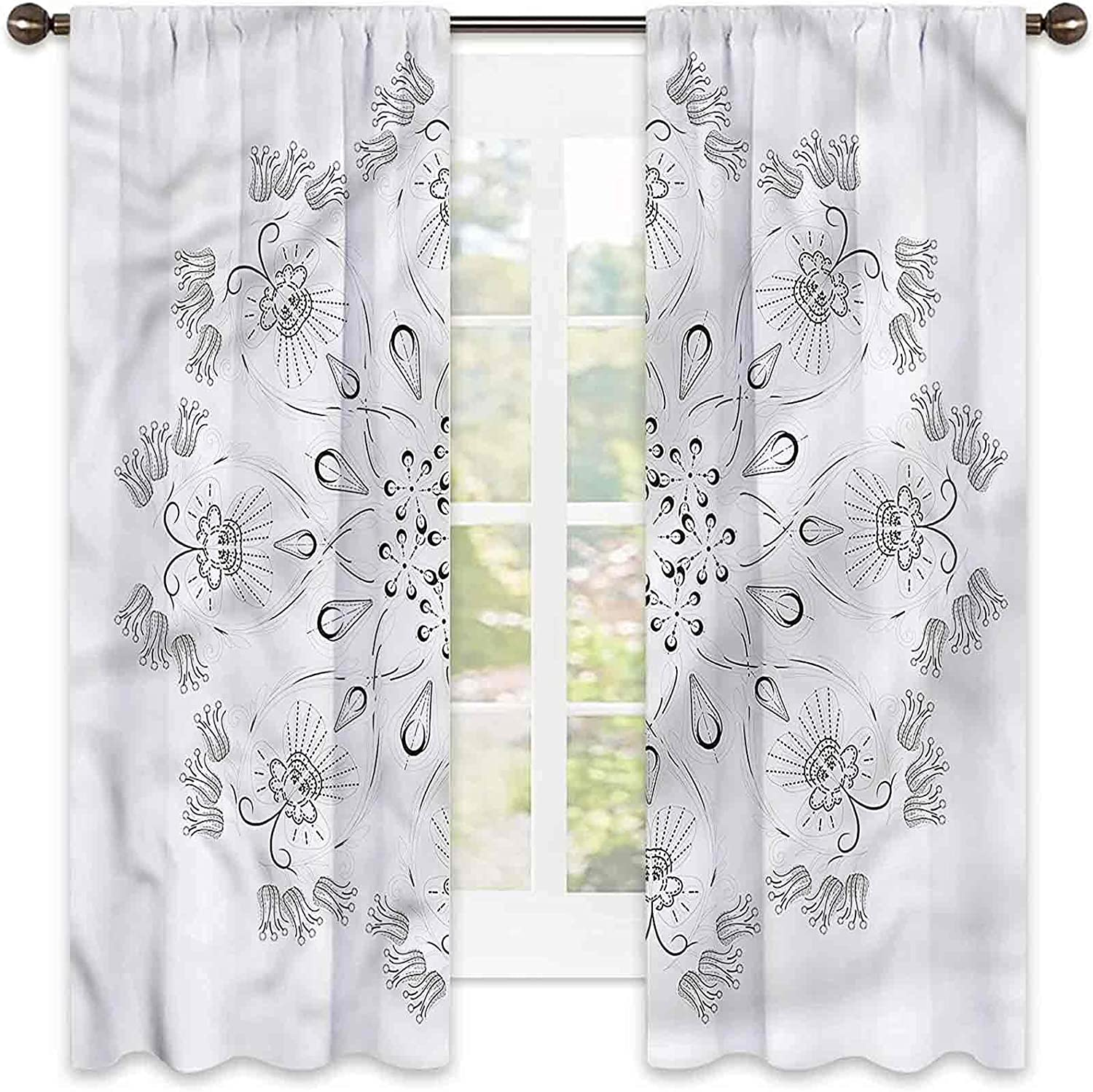 2021 new Butterfly Heat Insulation Curtain Paisley Limited Special Price Petals Inspired Livi