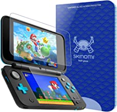 Skinomi Tech Glass Screen Protector Compatible with Nintendo 2DS XL (2X Top Glass and 2 Bottom PET Protectors) 9H Hardness Clear HD Ballistic Tempered Glass Shield