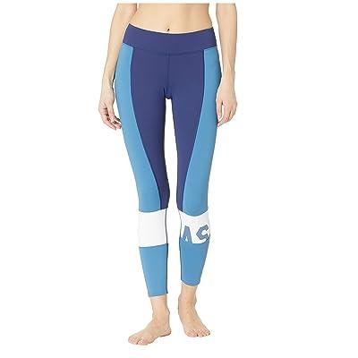 ASICS Solution Dye Color-Block 7/8 Tights (Azure) Women