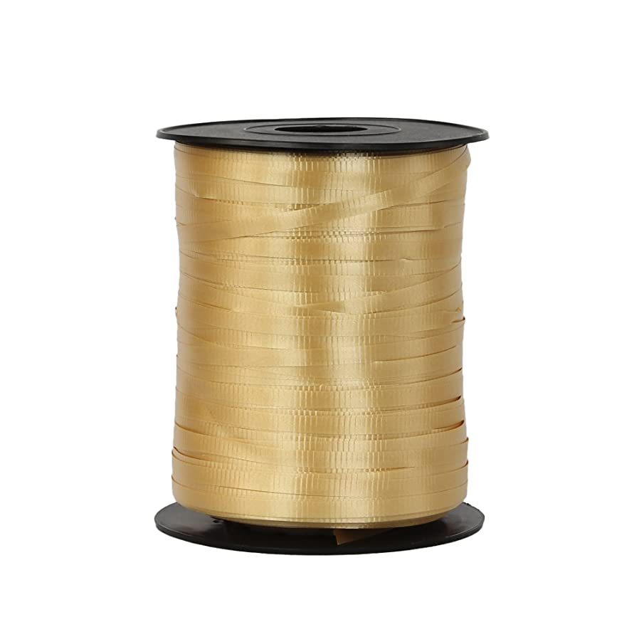 Curling Ribbon 3/16-Inch Wide by 500-Yard - Play Kreative TM (Gold)