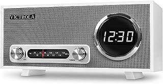 Victrola Broadway Bluetooth Clock Radio with Digital Display - White